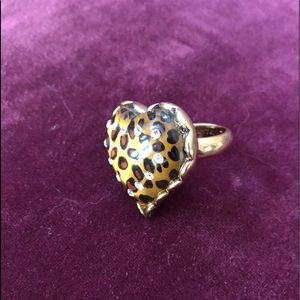 Betsey Johnson Leopard Cocktail Ring